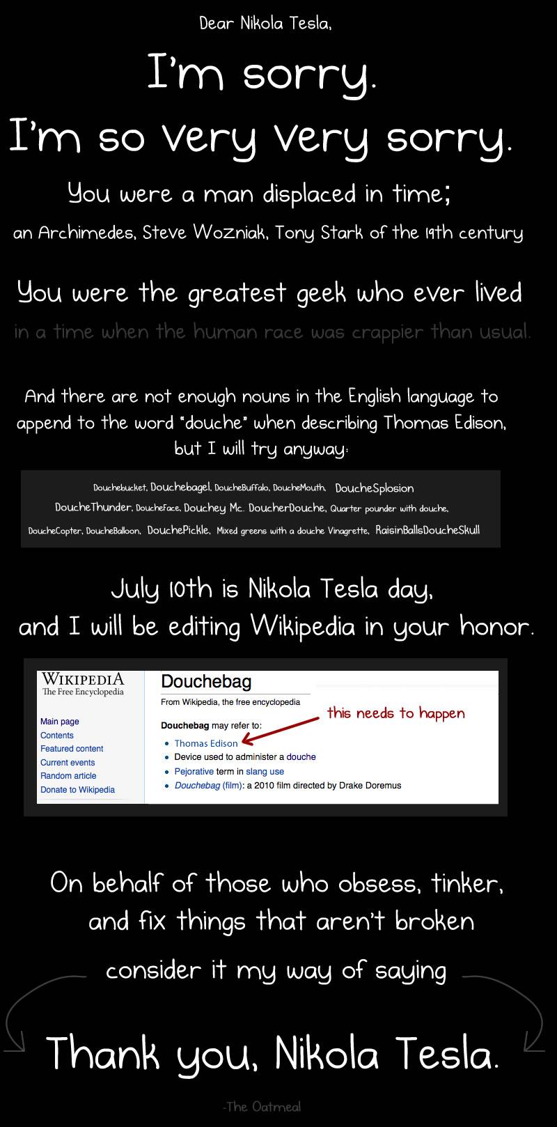 Thank You Nikola Tesla