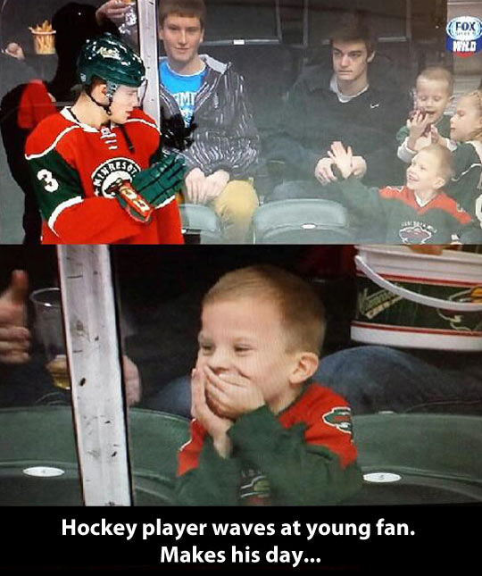 This kid will never forget that moment