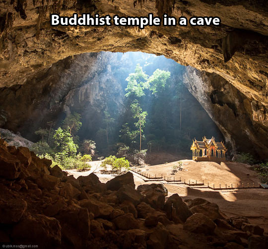 cool-Buddhism-temple-cave