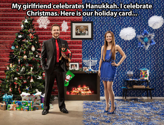 Christmas and Hanukkah in one picture…