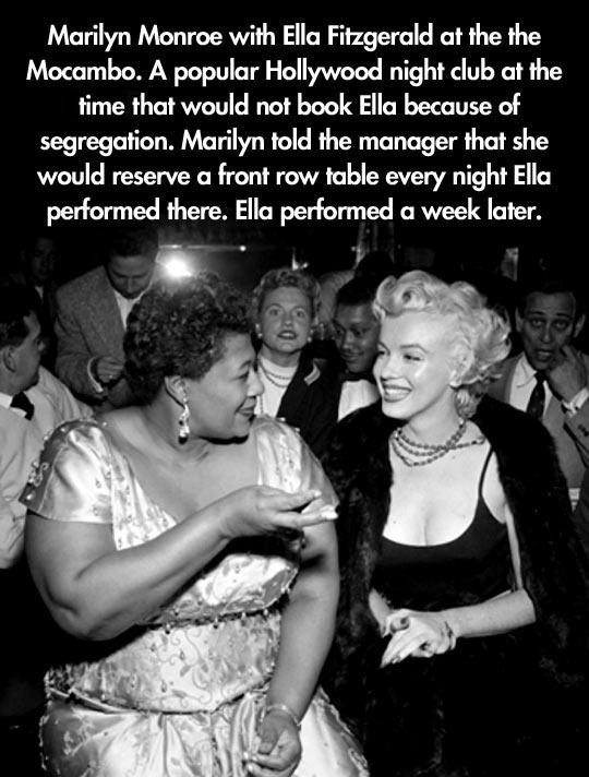Marilyn and Ella…