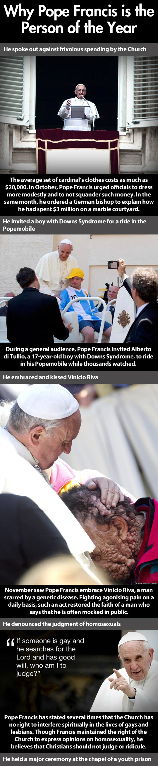 Pope is the person of the year...