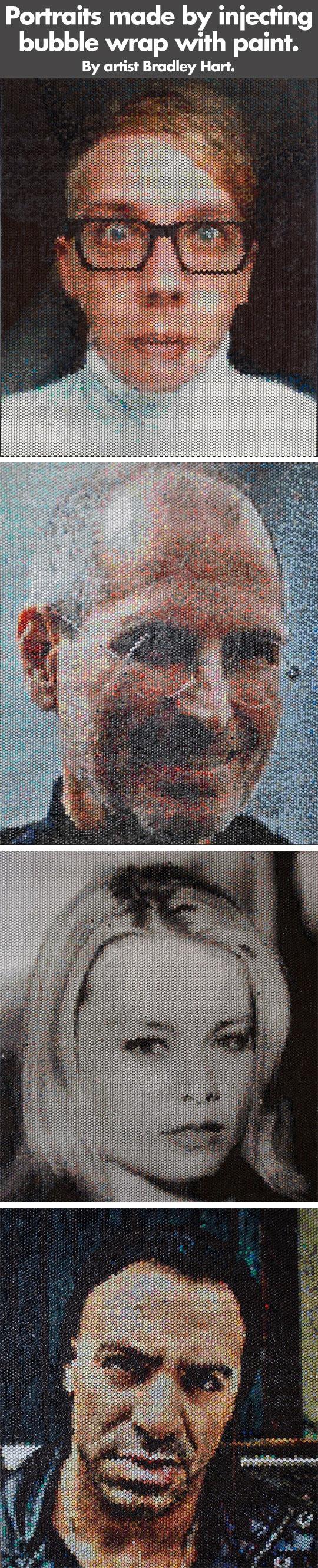 cool-Portraits-injecting-bubble-wrap-paint