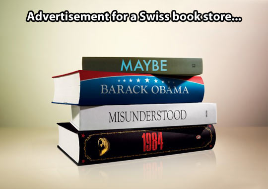 That's not very neutral of you, Swiss book shop…