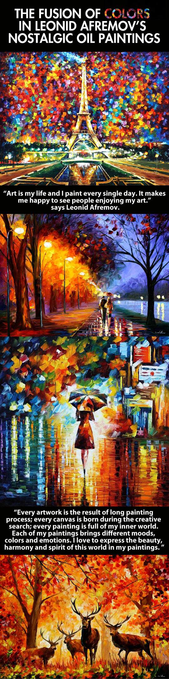 The work of the Russian-Israeli artist Leonid Afremov...