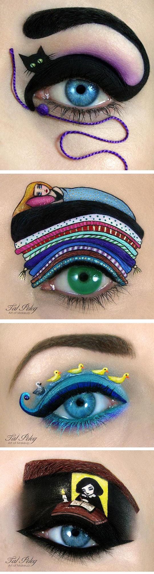 cool-eye-makeup-cat-colors-art-wool