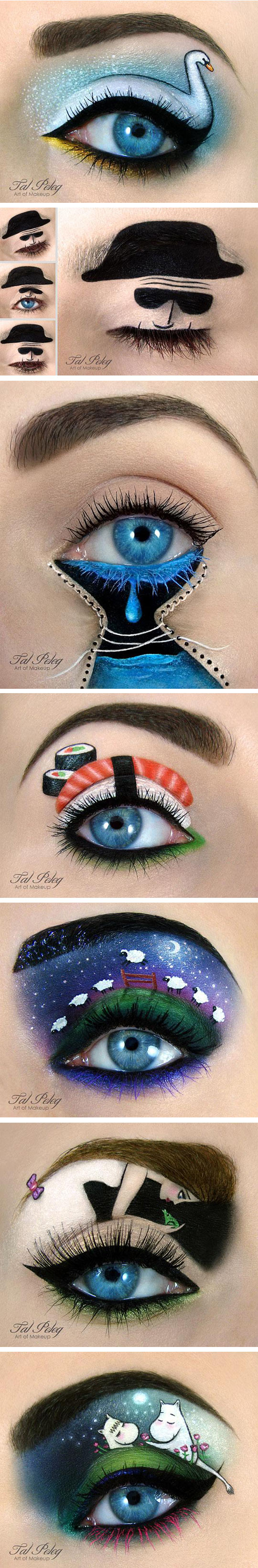 cool-eye-makeup-cat-colors-art