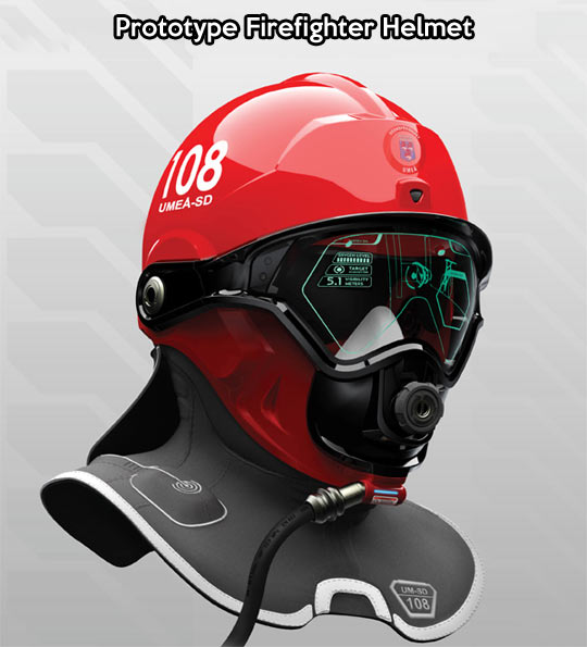 Future firefighter helmet…
