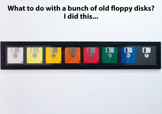 Floppy disks decoration…