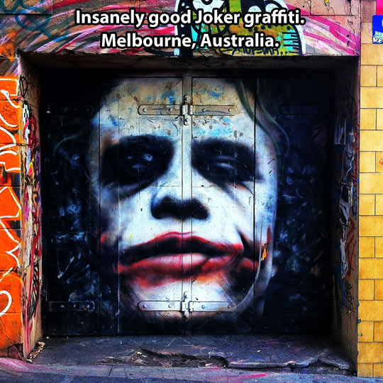 Insanely good graffiti in Australia…