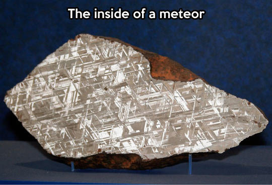 What a meteor looks like in the inside…