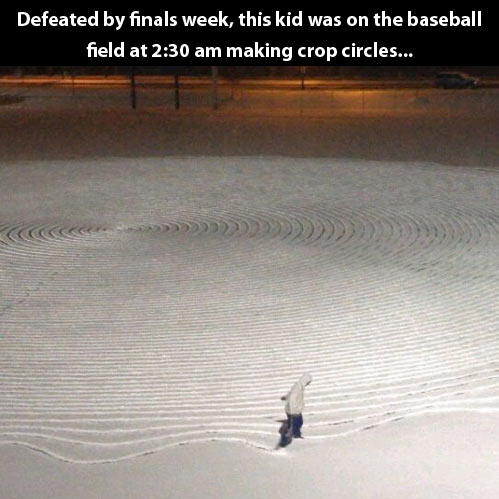 Defeated by finals week…