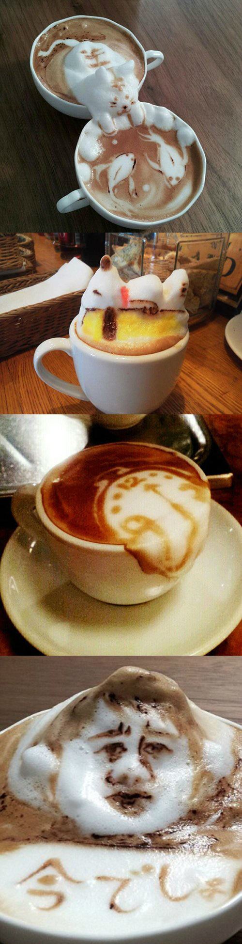 These baristas have real talent...