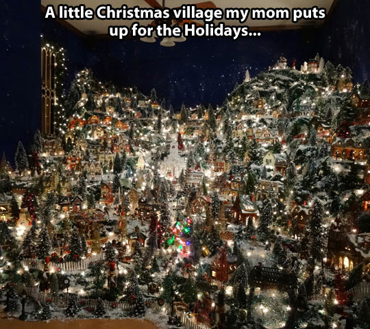 A little Christmas village…