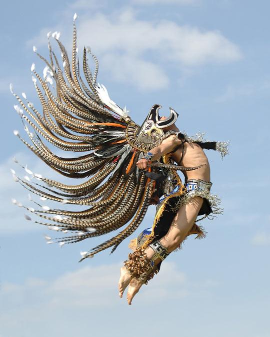 Majestic Aztec dancer…