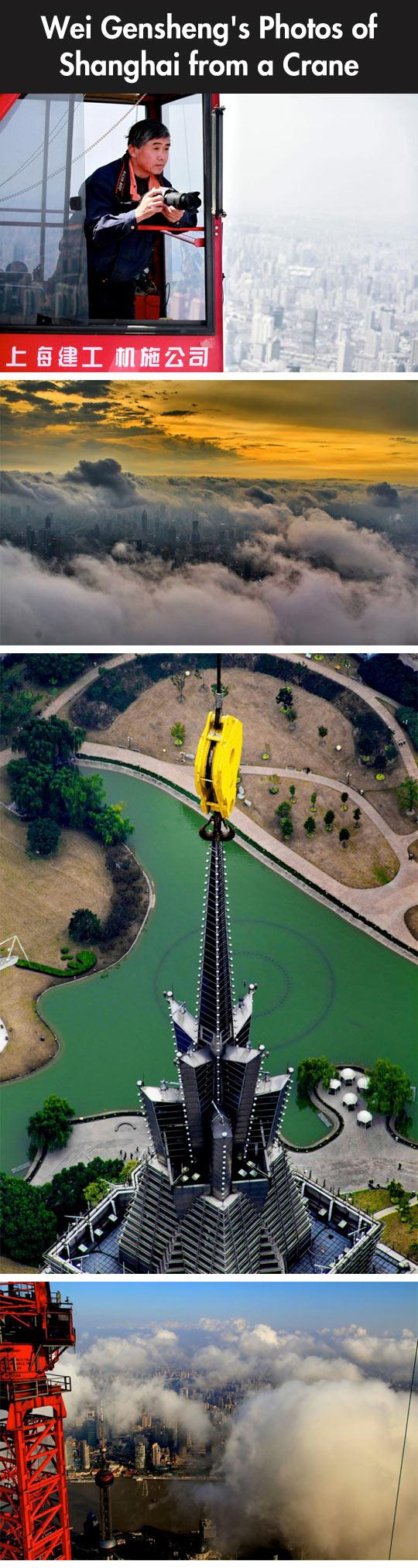 Photos of Shanghai from a Crane...