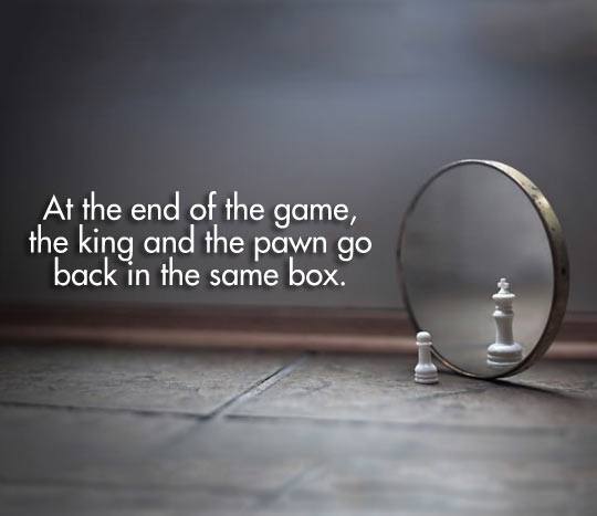 At the end of the game…
