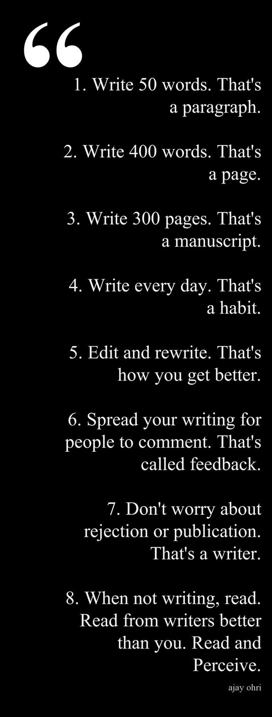 Writing advice…