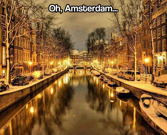 Amsterdam during the winter…