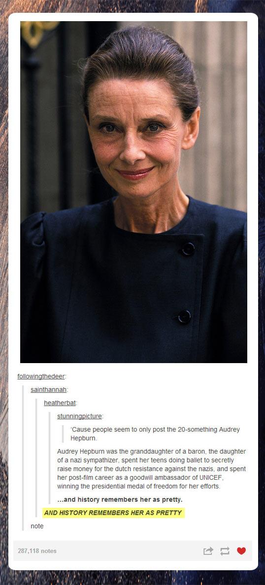 Older Audrey Hepburn…