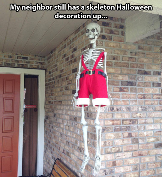 Halloween Decoration In Christmas