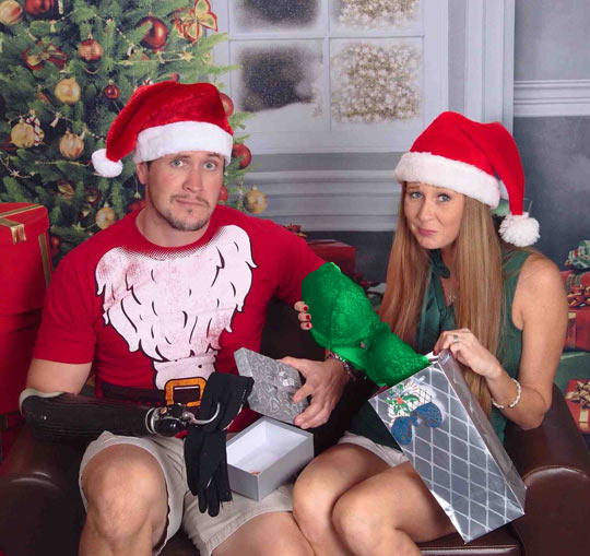 He lost an arm. She had a double mastectomy. This is their Christmas card...
