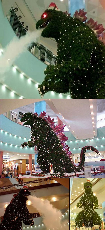 Godzilla Christmas tree at Tokyo mall…