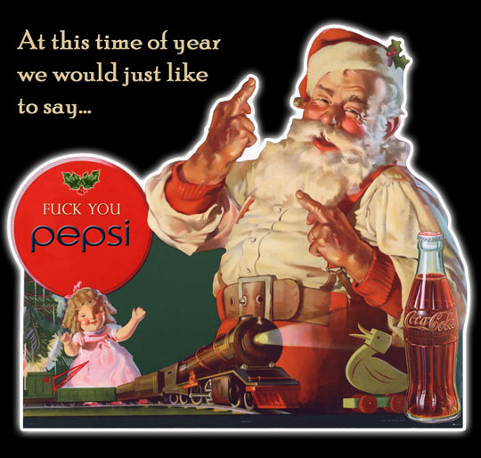 funny-Coca-Cola-Santa-old-sign