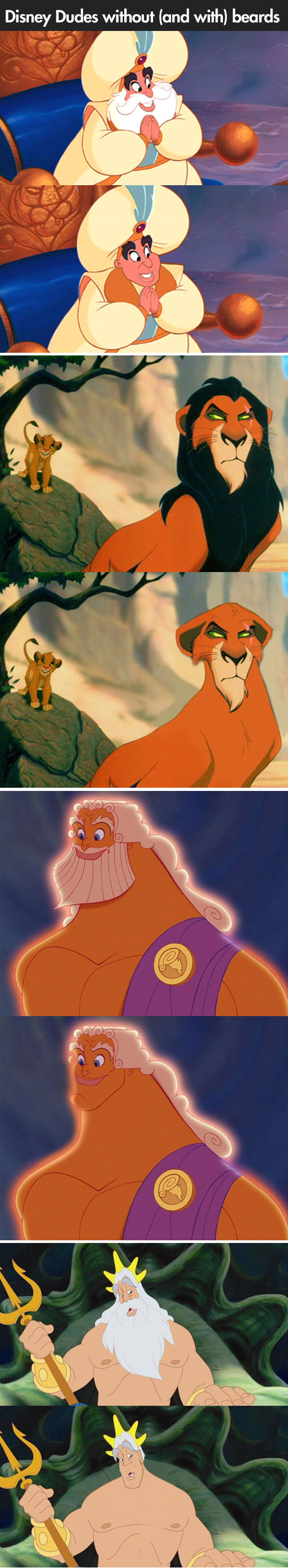 Disney characters without beards...