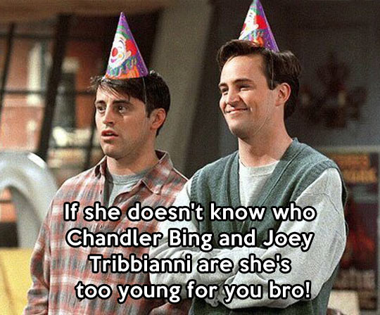 funny-Friends-Joey-Chandler-party-hat