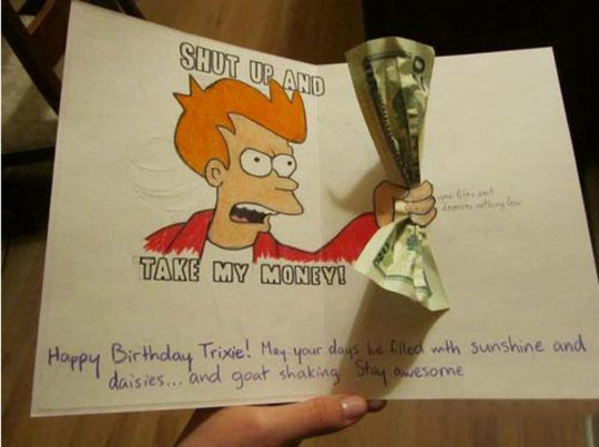 Futurama Birthday card…