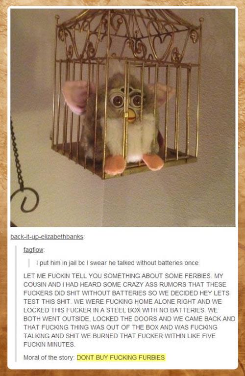 Don't buy Furbies…