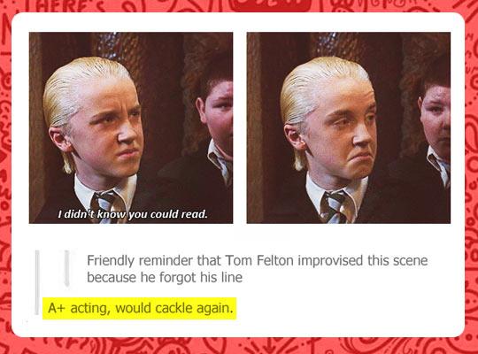 A+ for Tom Felton…