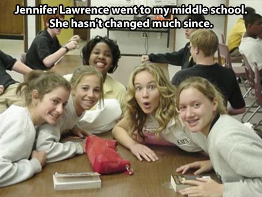 Jennifer Lawrence in middle school…