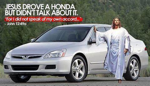 The Messiah's car…