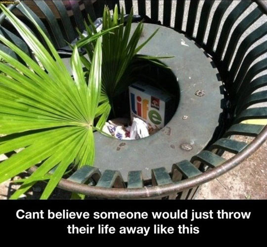 Throwing your life away…