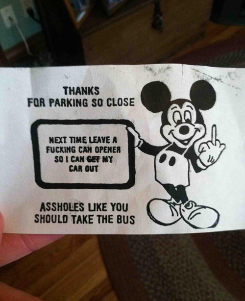 Found this on my friend's car this morning…