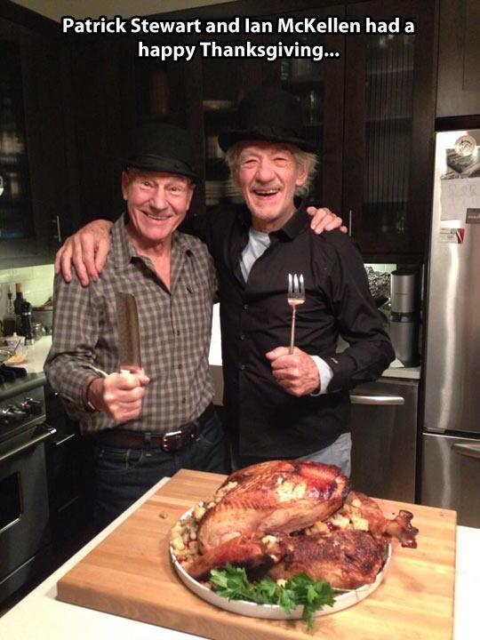 funny-Patrick-Stewart-Ian-McKellen-Thanksgiving