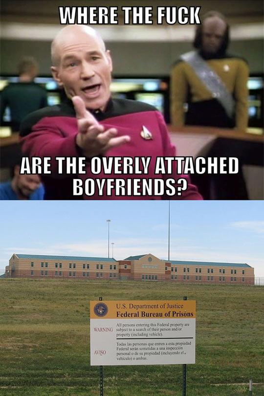Overly attached boyfriends…