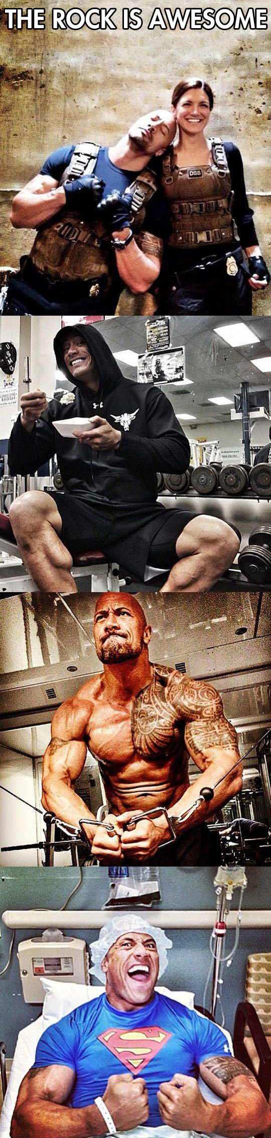 Some of the reasons Dwayne Johnson is an awesome guy...
