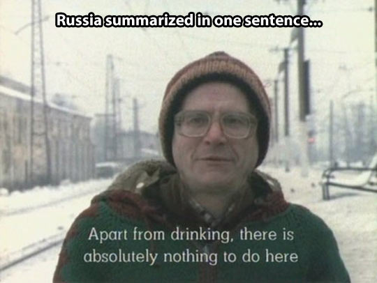 Russia in one sentence…