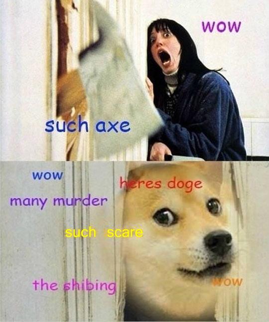 funny-Shinning-axe-dog-door