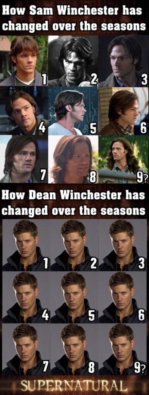 Winchester brothers hairstyle evolution…