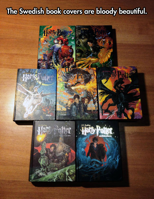 Beautiful Harry Potter covers…