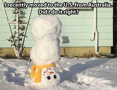 funny-USA-Australia-snowman-snow-house