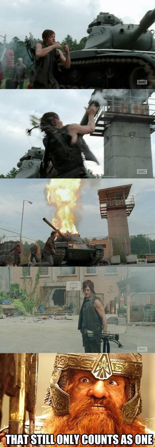 Daryl, the one man army…