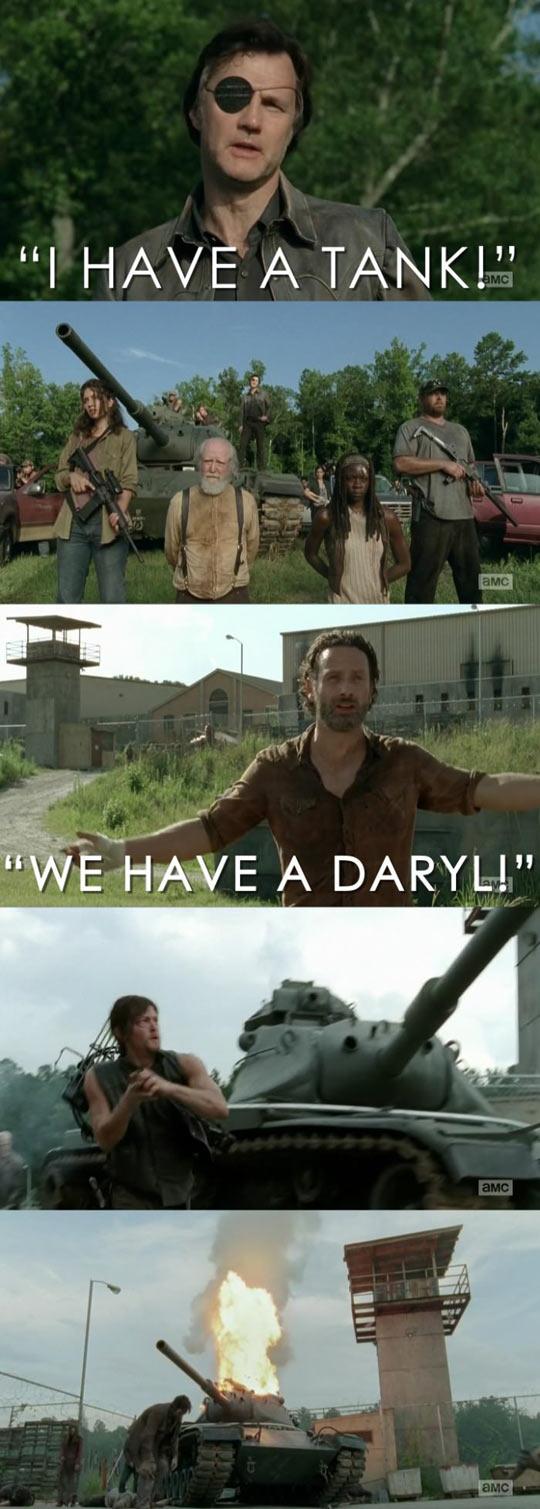 Walking Dead logic…