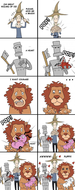 funny-Wizard-Oz-Scarecrow-Lion-Courage
