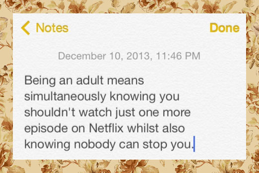 What being an adult really means…