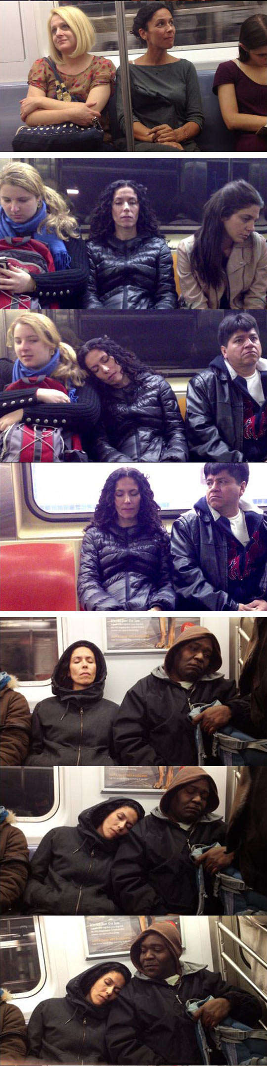funny-artist-reaction-strangers-sleep